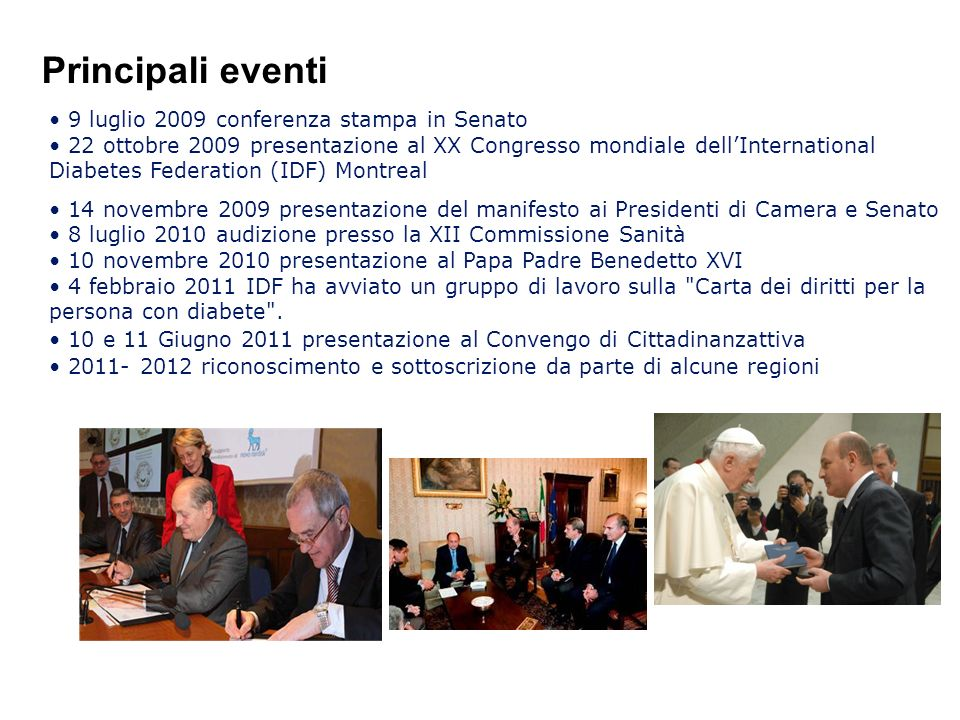 Principali eventi 9 luglio 2009 conferenza stampa in Senato