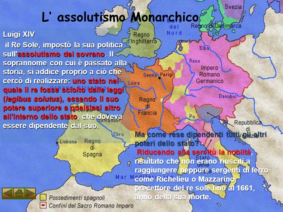 L' assolutismo Monarchico