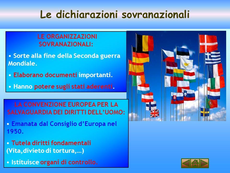 Le dichiarazioni sovranazionali