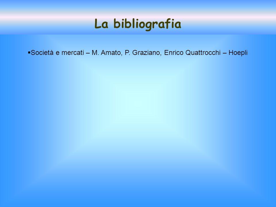 La bibliografia Società e mercati – M. Amato, P. Graziano, Enrico Quattrocchi – Hoepli