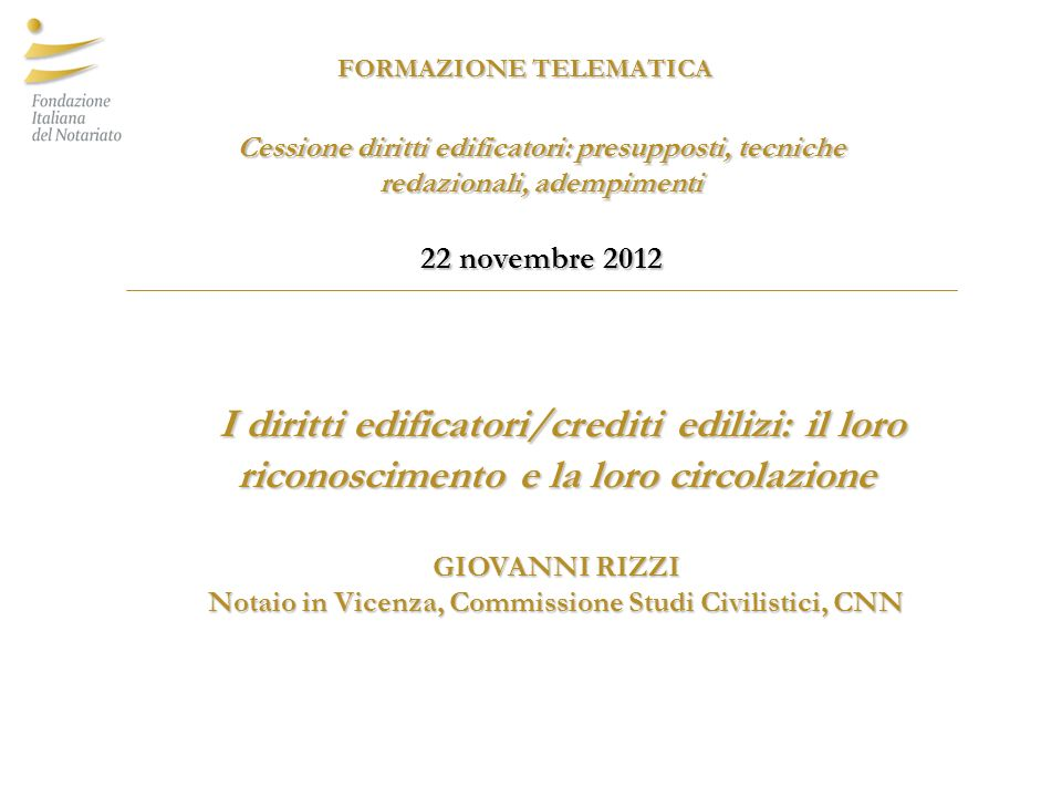 Notaio in Vicenza, Commissione Studi Civilistici, CNN
