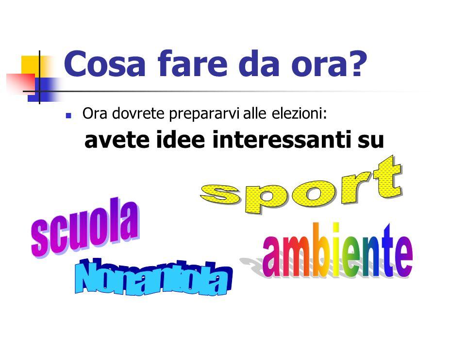 Cosa fare da ora sport scuola ambiente Nonantola