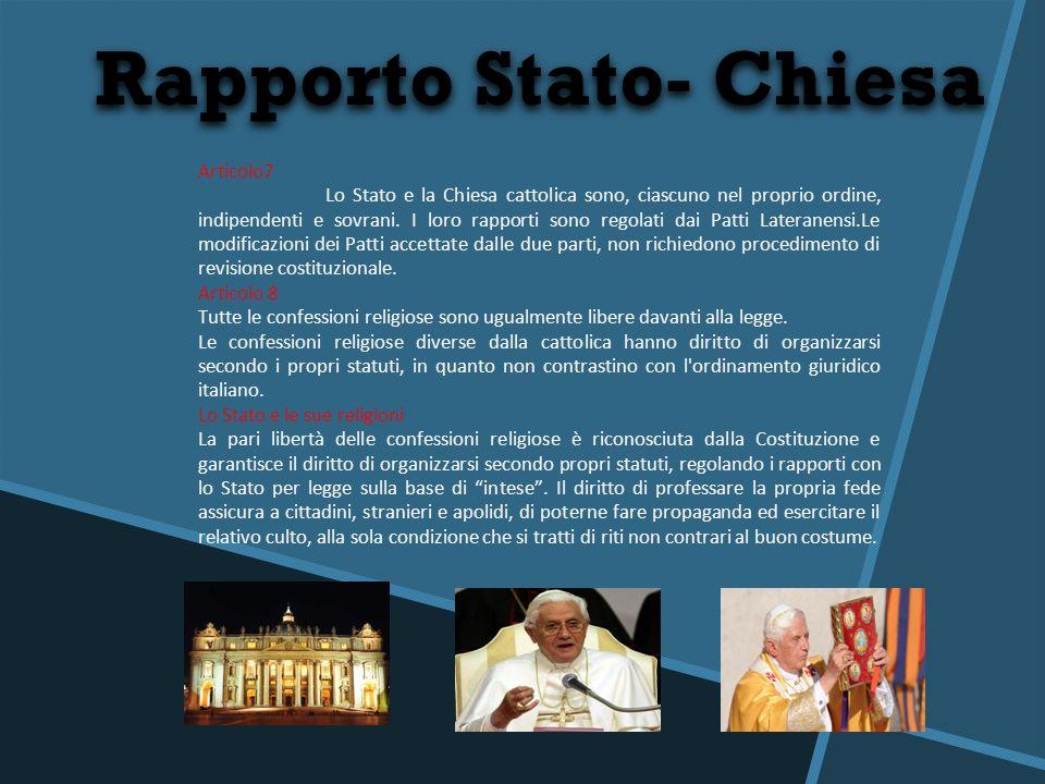 Rapporto Stato- Chiesa