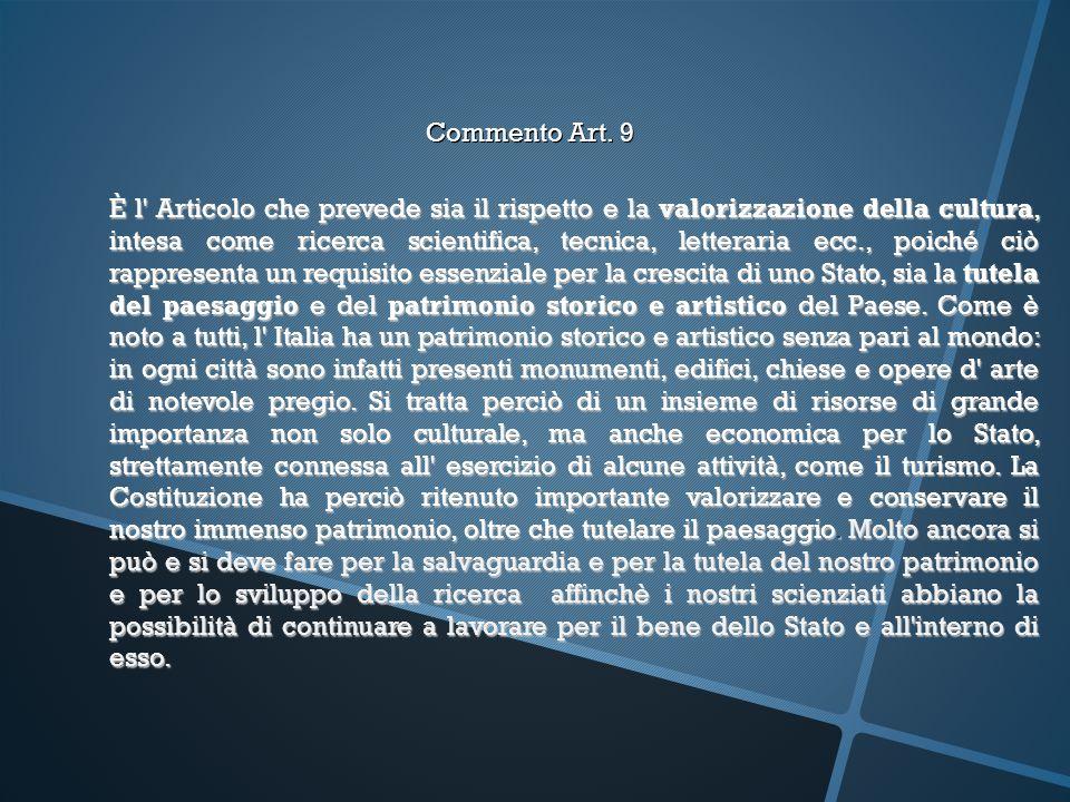 Commento Art. 9