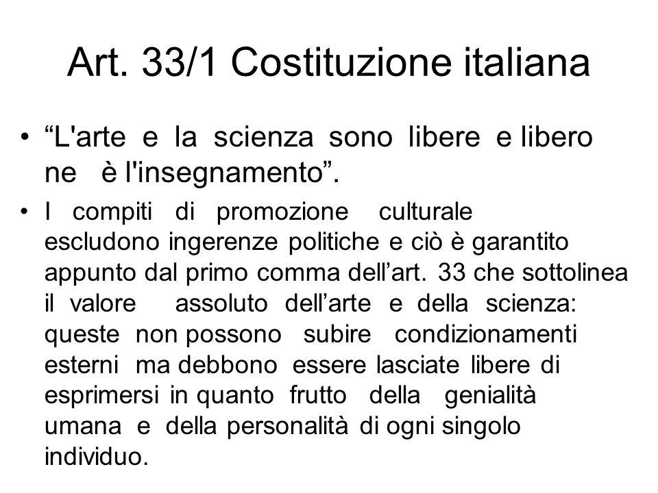 Art. 33/1 Costituzione italiana