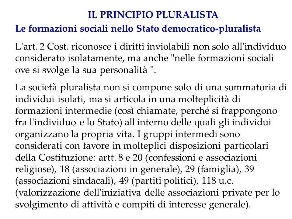 IL PRINCIPIO PLURALISTA