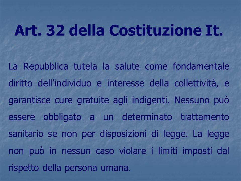 Art. 32 della Costituzione It.