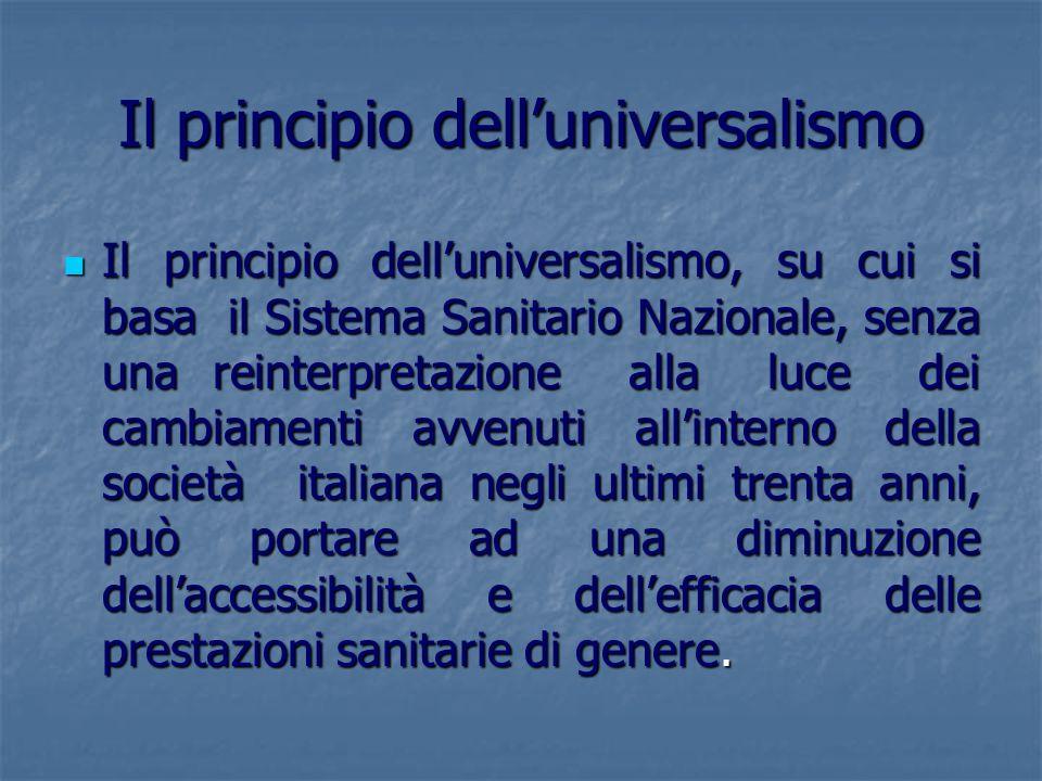 Il principio dell'universalismo