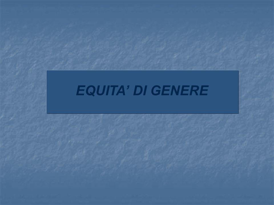EQUITA' DI GENERE