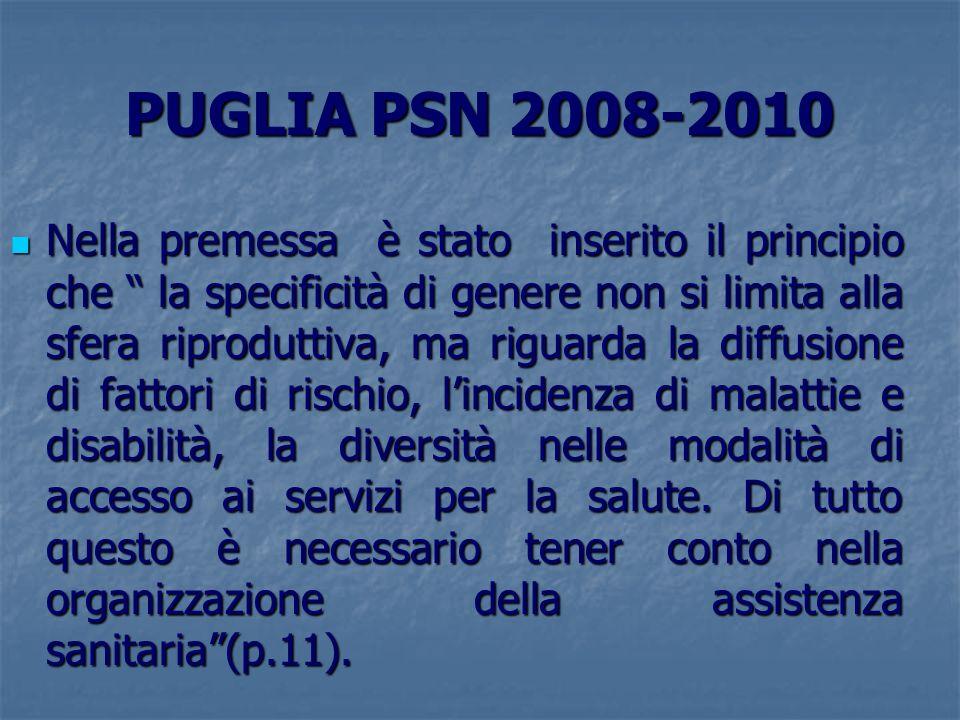 PUGLIA PSN 2008-2010