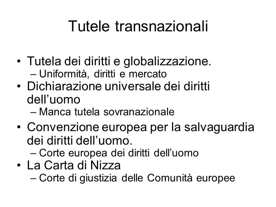Tutele transnazionali