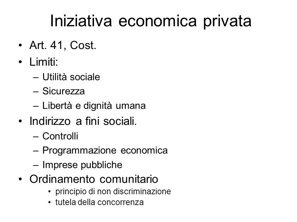 Iniziativa economica privata