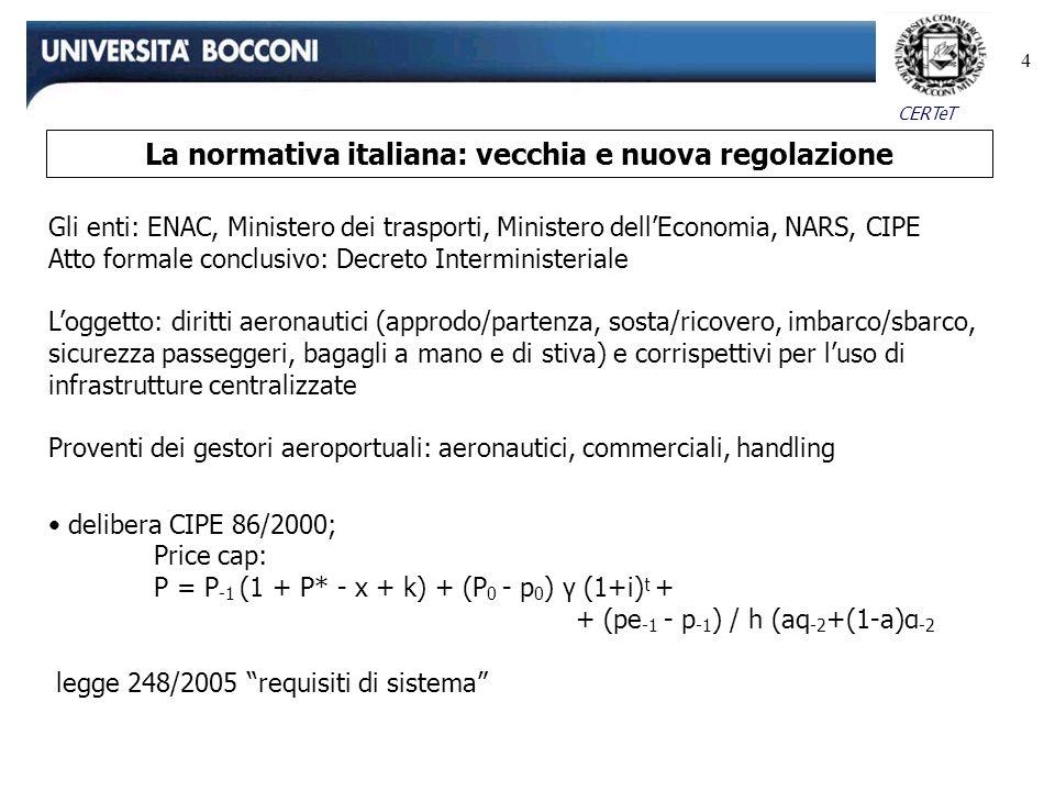 La normativa italiana: vecchia e nuova regolazione