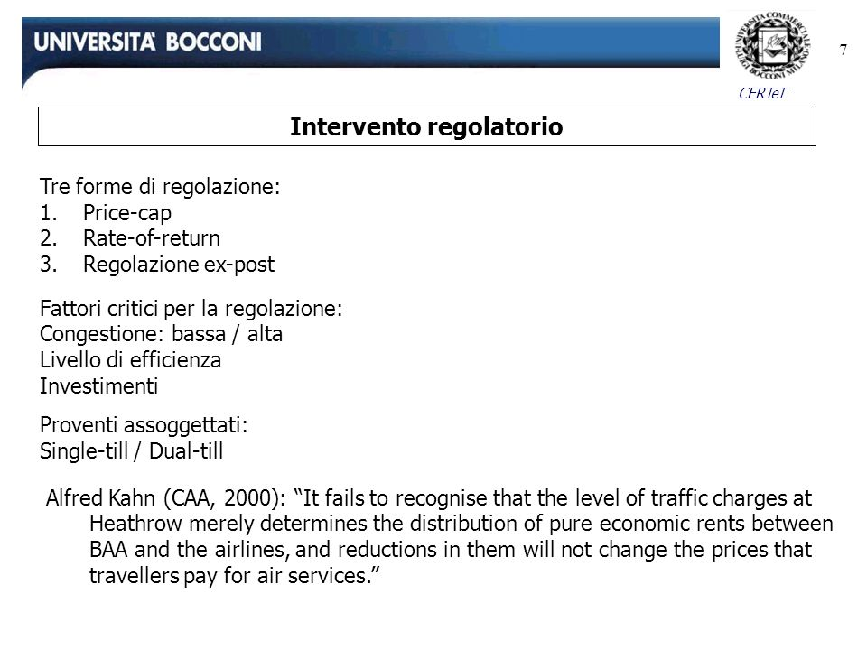 Intervento regolatorio