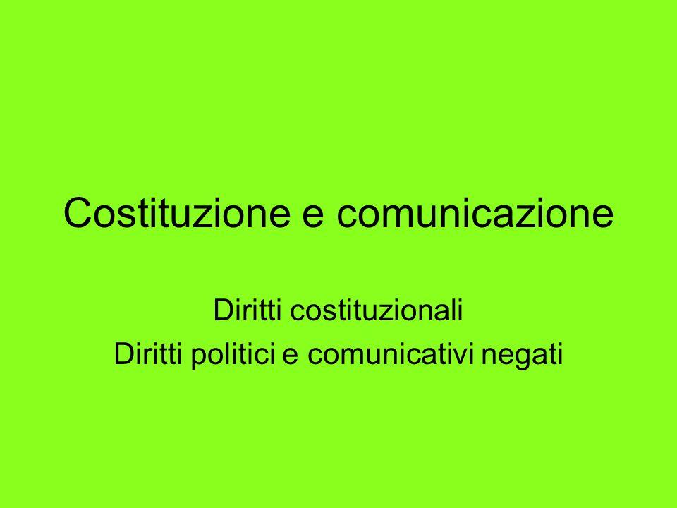 Costituzione e comunicazione