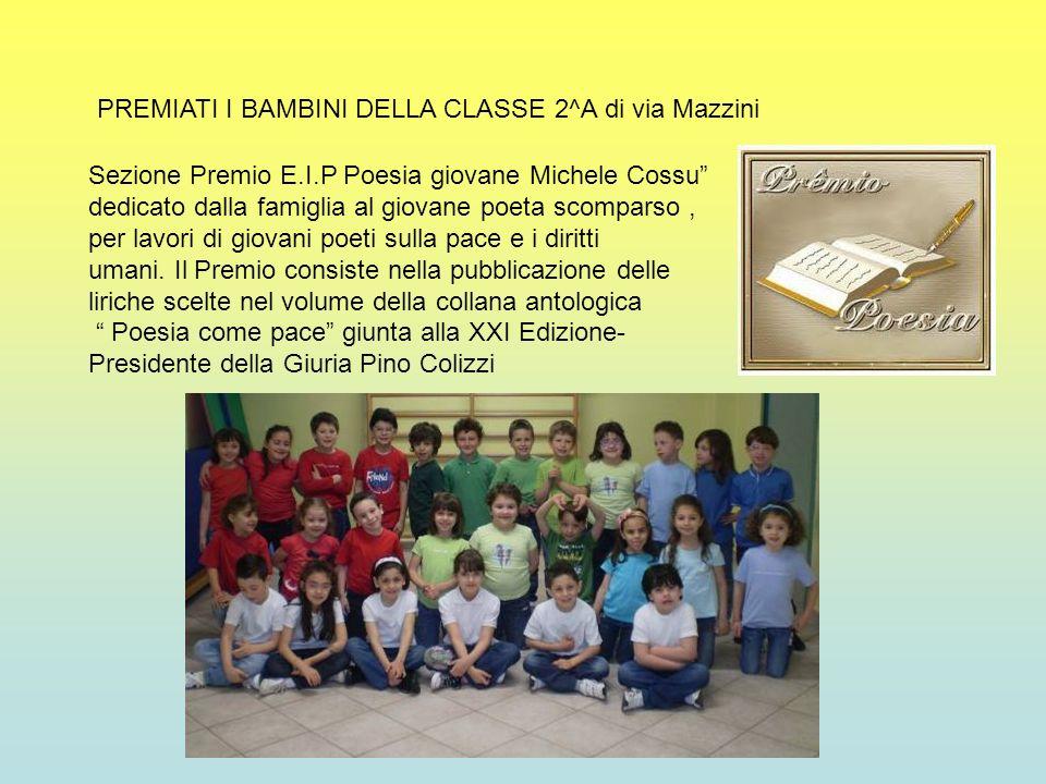 PREMIATI I BAMBINI DELLA CLASSE 2^A di via Mazzini