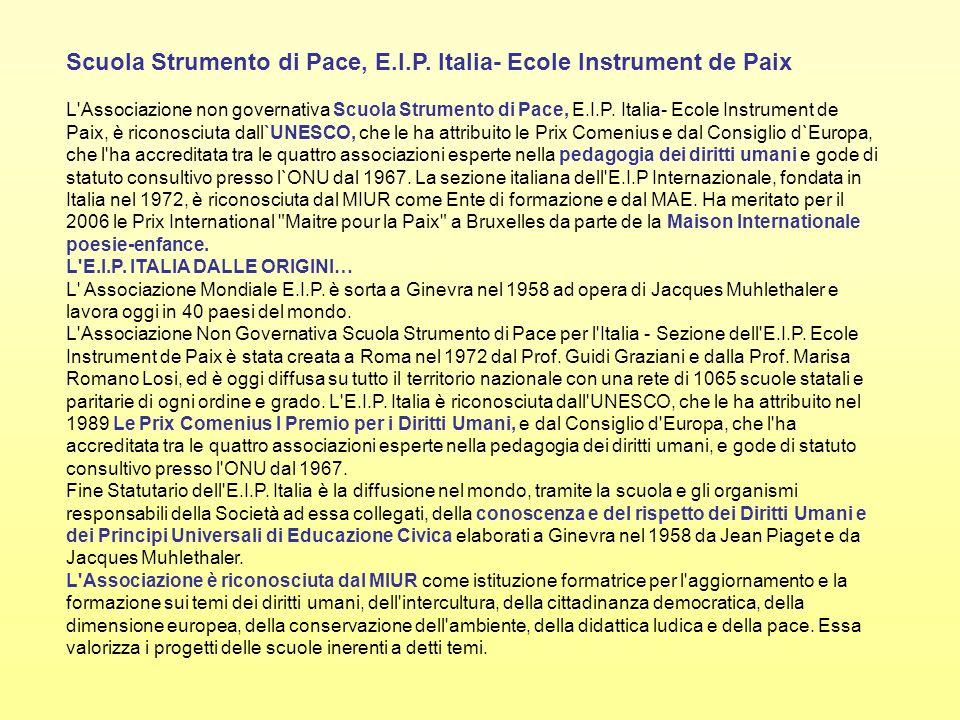Scuola Strumento di Pace, E.I.P. Italia- Ecole Instrument de Paix