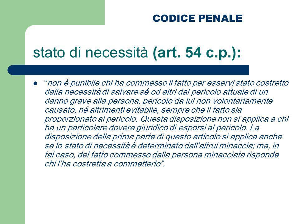 stato di necessità (art. 54 c.p.):