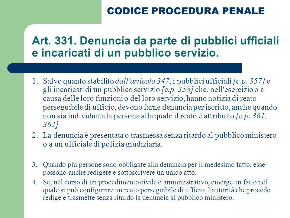 CODICE PROCEDURA PENALE