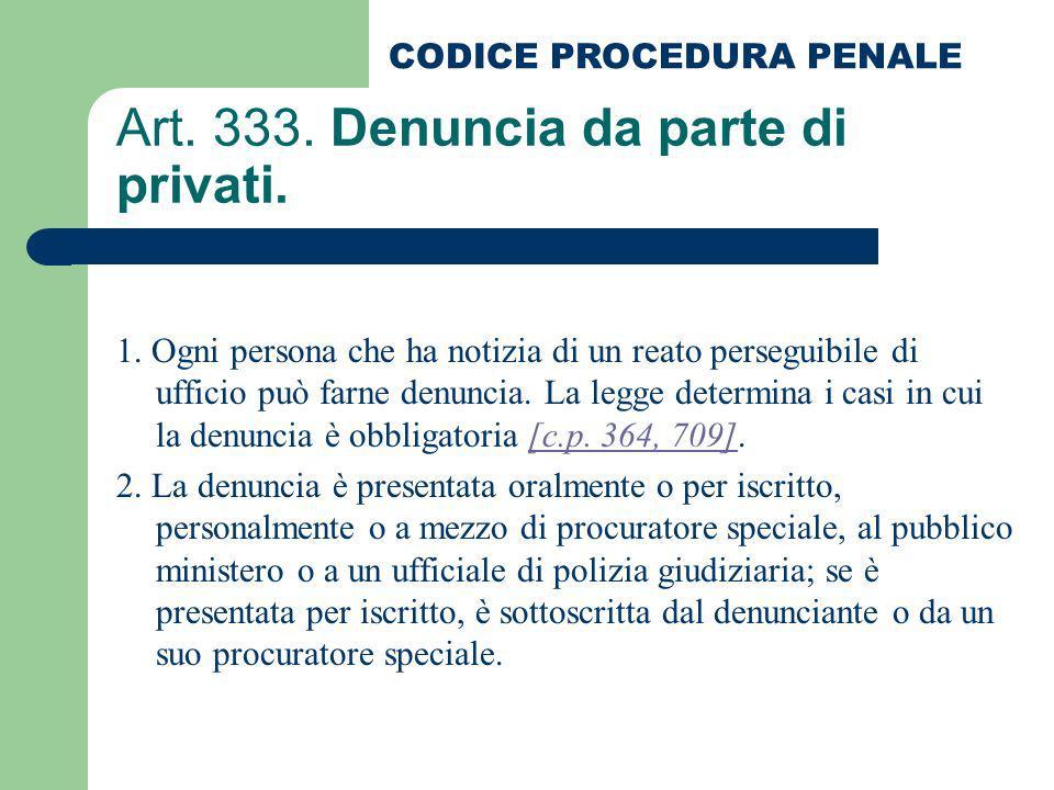 Art. 333. Denuncia da parte di privati.