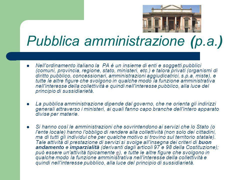 Pubblica amministrazione (p.a.)