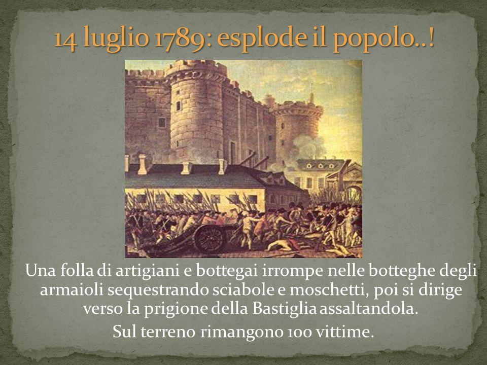 14 luglio 1789: esplode il popolo..!