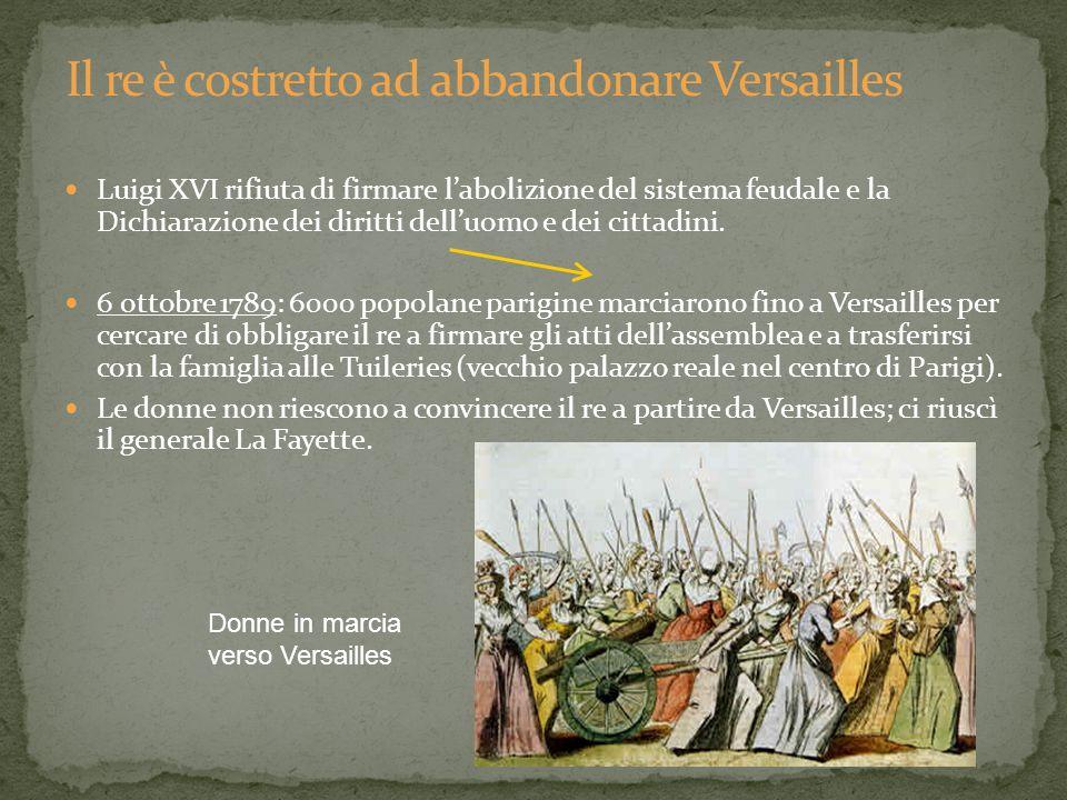 Il re è costretto ad abbandonare Versailles