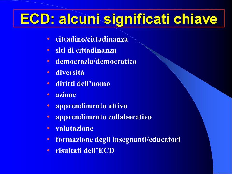 ECD: alcuni significati chiave