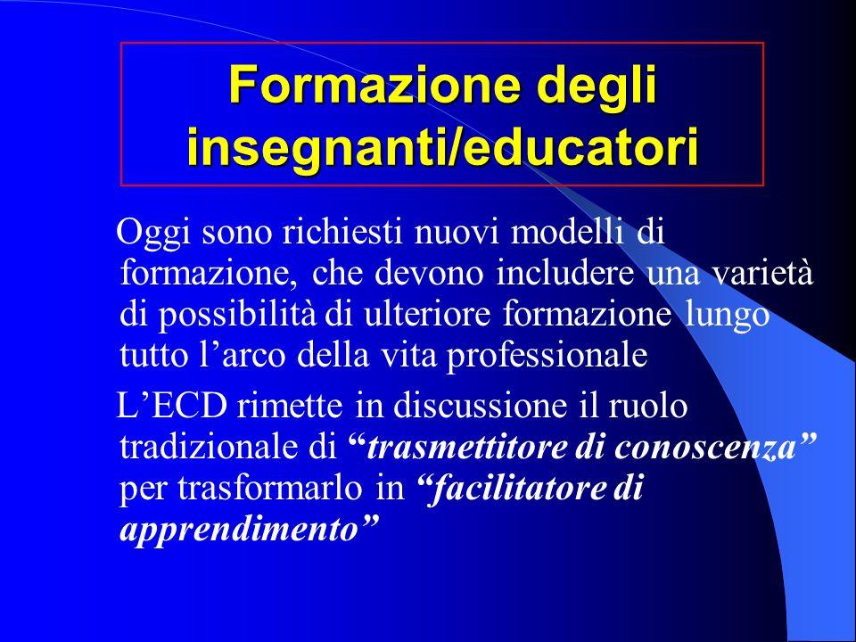 Formazione degli insegnanti/educatori