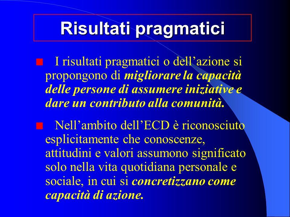 Risultati pragmatici