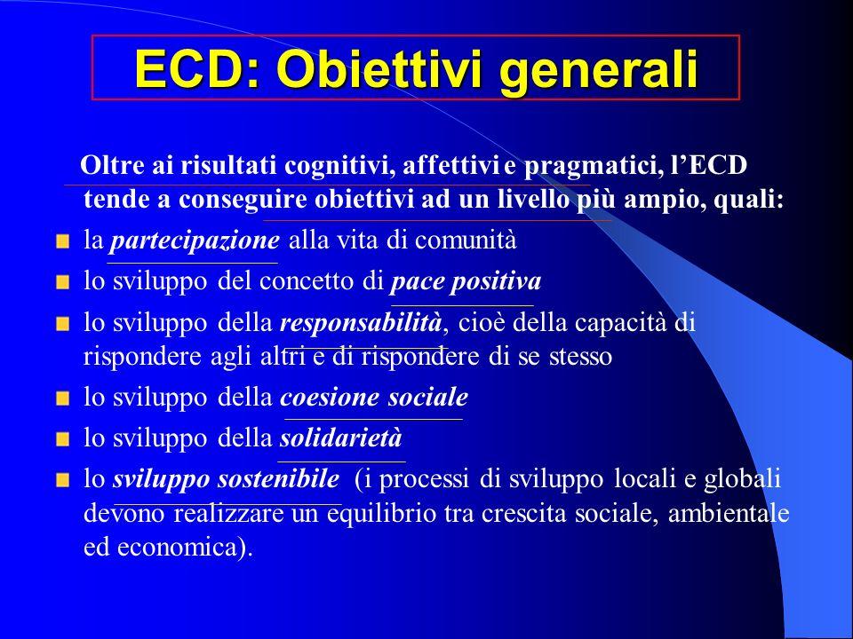 ECD: Obiettivi generali