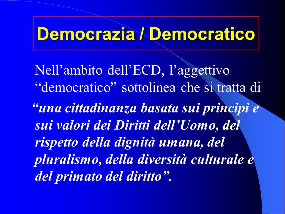 Democrazia / Democratico