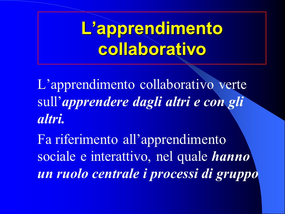 L'apprendimento collaborativo