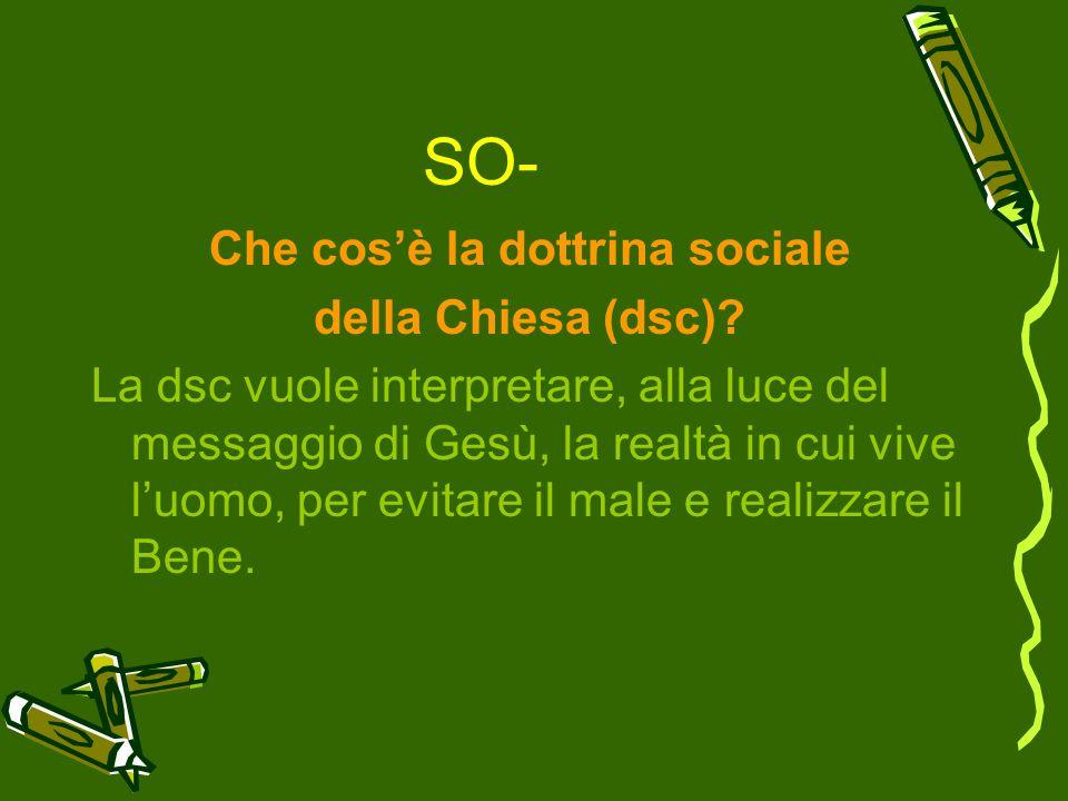 Che cos'è la dottrina sociale