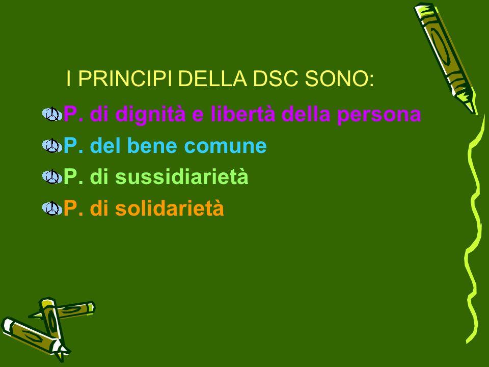 I PRINCIPI DELLA DSC SONO: