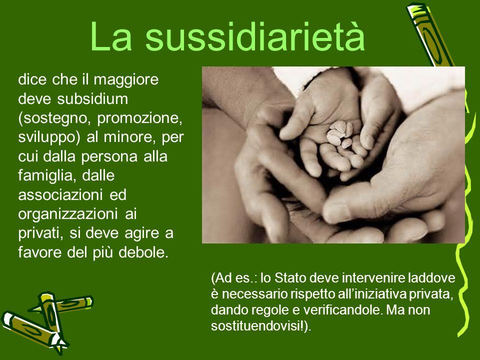 La sussidiarietà