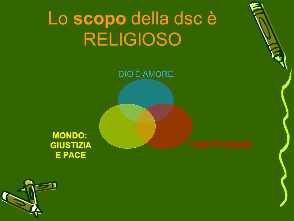 Lo scopo della dsc è RELIGIOSO