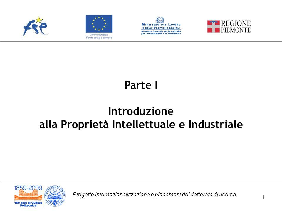 alla Proprietà Intellettuale e Industriale