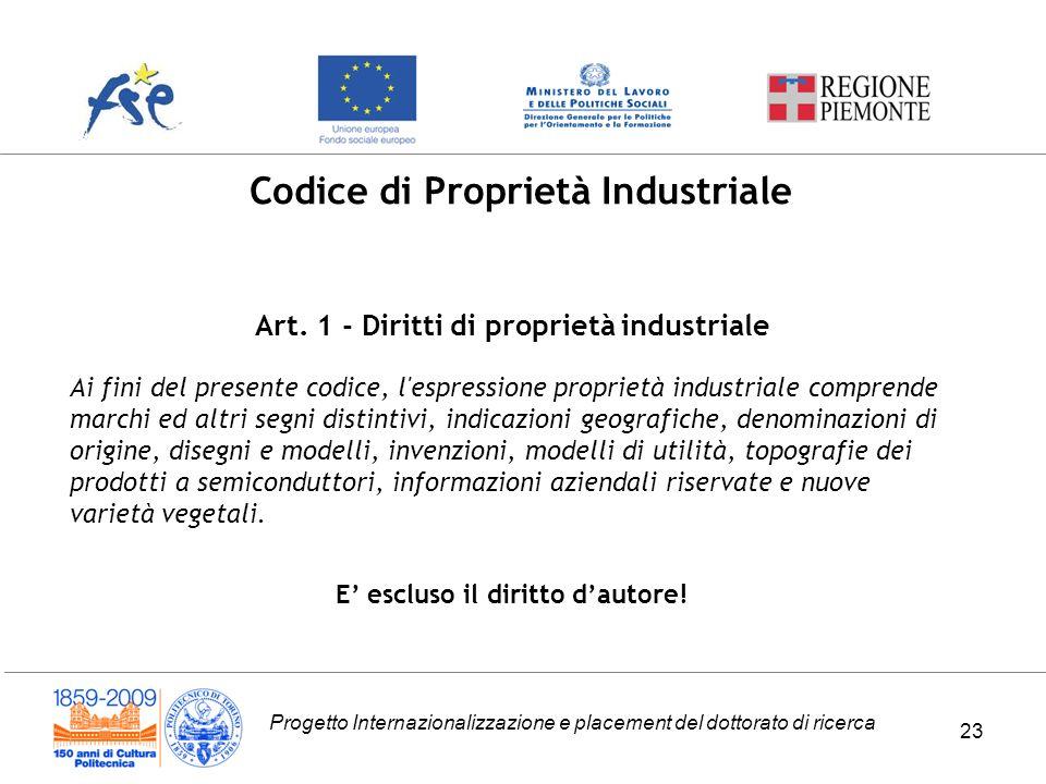 Codice di Proprietà Industriale