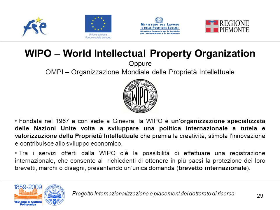 WIPO – World Intellectual Property Organization