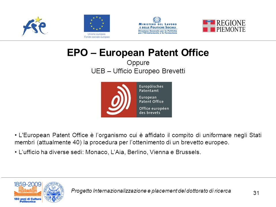 EPO – European Patent Office