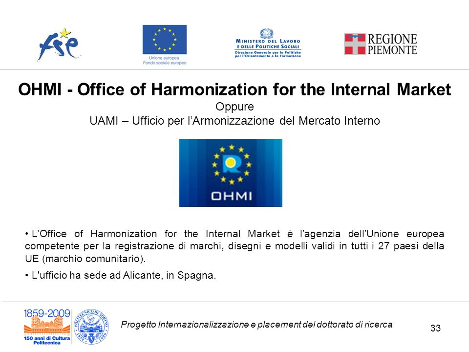 OHMI - Office of Harmonization for the Internal Market Oppure