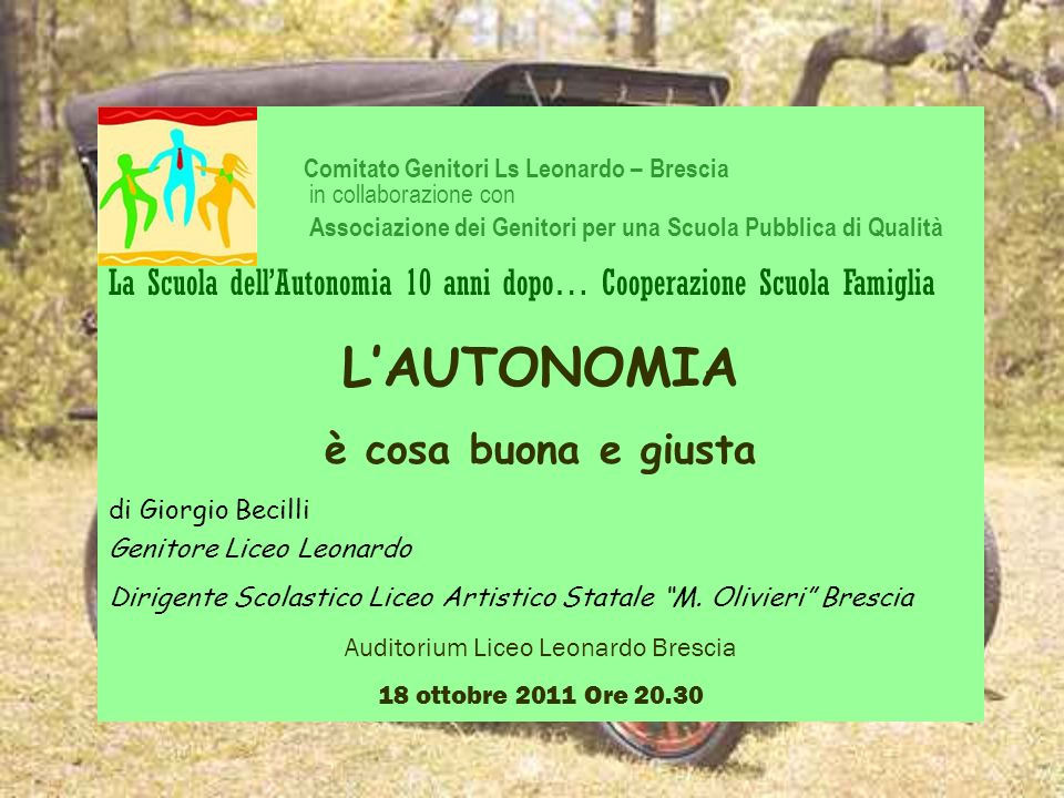 Auditorium Liceo Leonardo Brescia