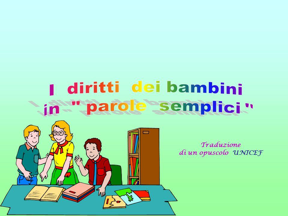 I diritti dei bambini in parole semplici Traduzione