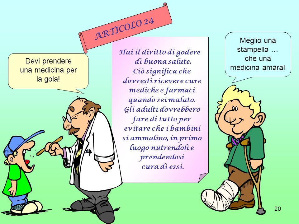 Hai il diritto di godere dovresti ricevere cure