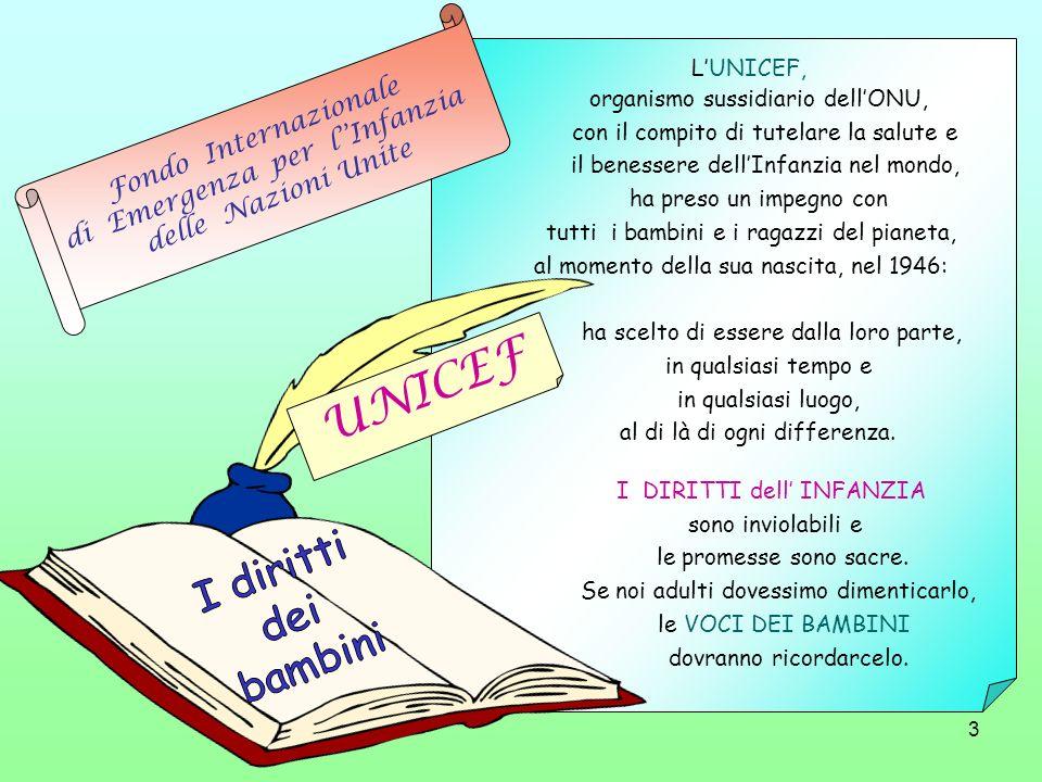 UNICEF I diritti dei bambini Fondo Internazionale