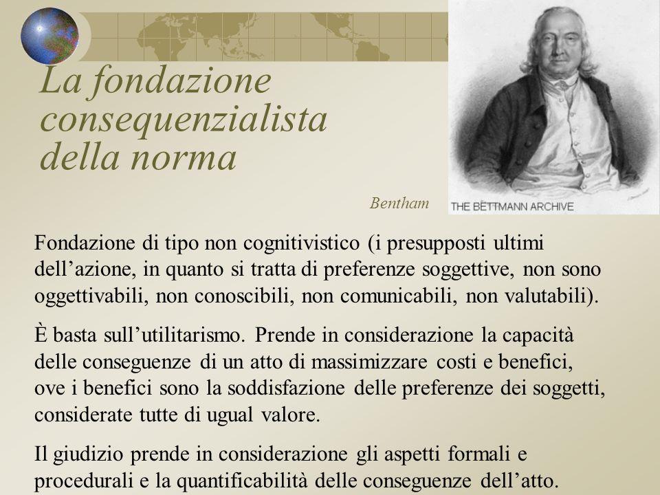 La fondazione consequenzialista della norma Bentham