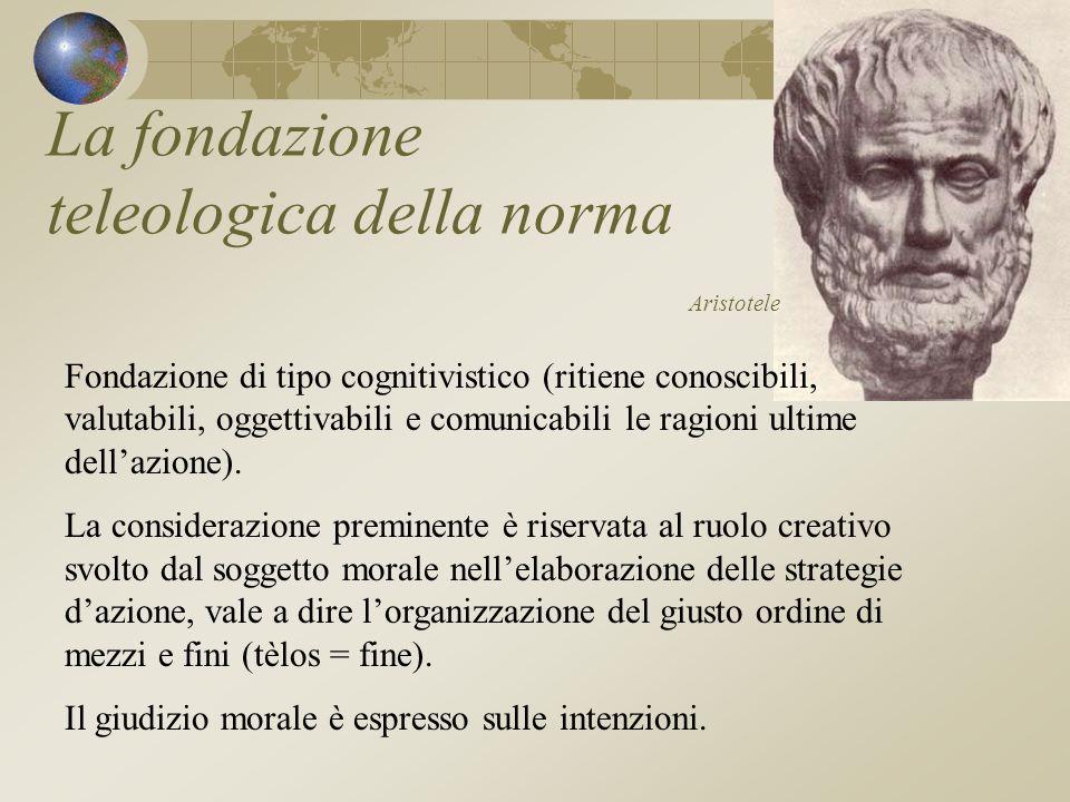 La fondazione teleologica della norma Aristotele
