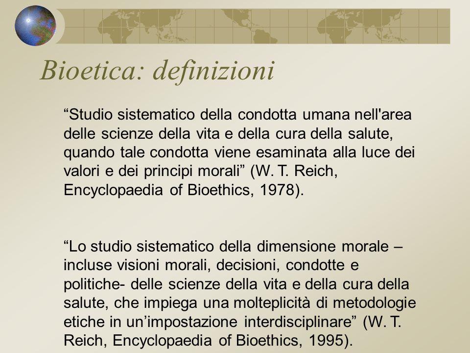 Bioetica: definizioni