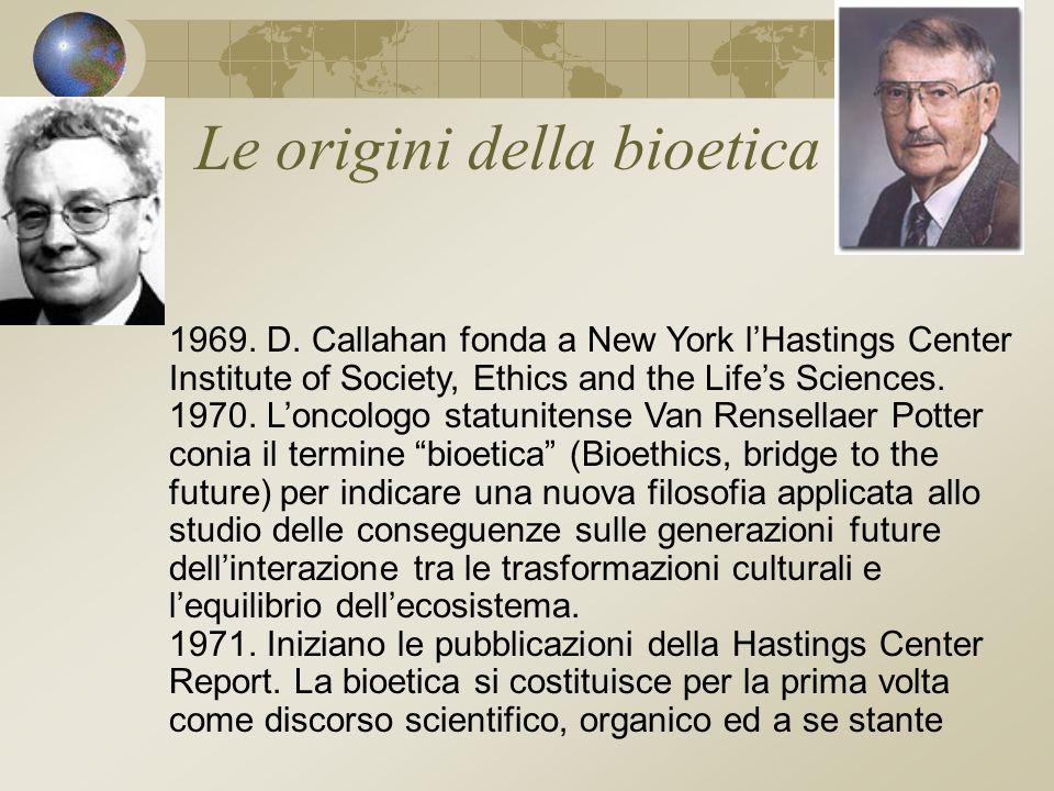 Le origini della bioetica